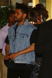 Selena Gomez with The Weeknd - Leaving the Sunset Tower Hotel in LA 07/24/2017