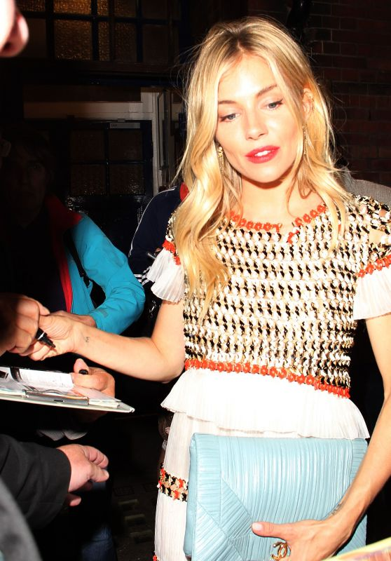 Sienna Miller - Leaving the Apollo Theater in London 07/24/2017