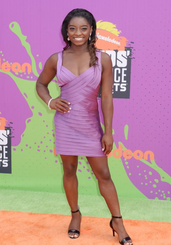 Simone Biles – Nickelodeon Kids' Choice Sports Awards in Los Angeles 07/13/2017