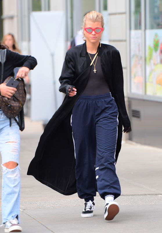 """Sofia Richie Wears """"Conflict"""" Jacket in NYC 07/24/2017"""