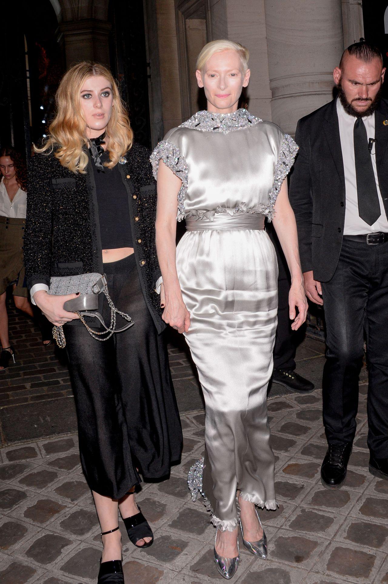Tilda Swinton Vogue Party At Paris Fashion Week 07 04 2017