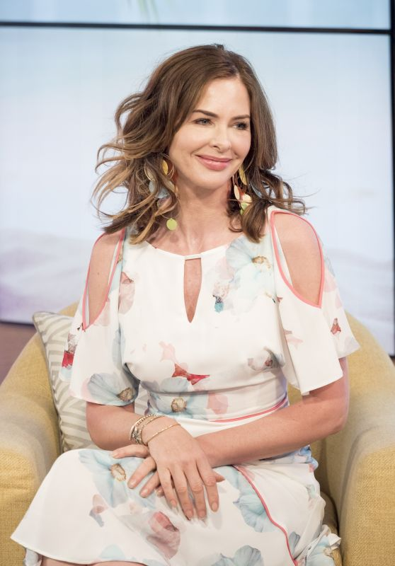 Trinny Woodall Appeared on This Morning TV Show in London, UK 07/13/2017