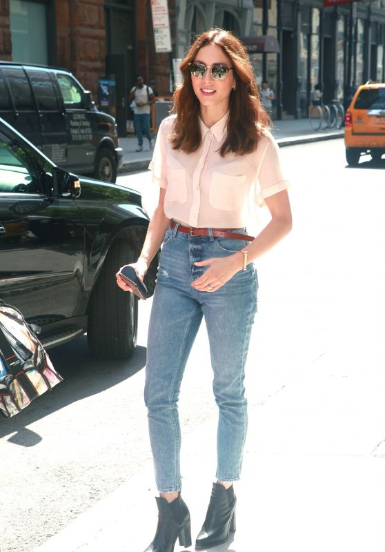 Troian Bellisario - Stops by AOL BUILD in NYC 07/21/2017