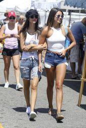 Victoria Justice and Madison Reed - Visit a Farmers Market in Los Angeles 07/27/2017