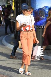 Willa Holland in a Ghost Busters Shirt - Shopping at The Grove in Hollywood 07/05/2017