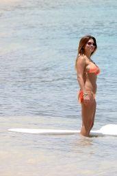 Zara Holland in Bikini on the Beach in Barbados 07/21/2017