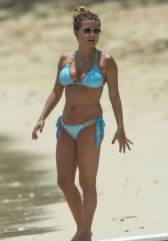 Zara Holland in Bikini on the Beach in Barbados 07/23/2017