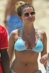 Zara Holland in Bikini on the Beach in Barbados 07/23/2017