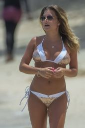 Zara Holland in Bikini on the Beach in Barbados 07/27/2017