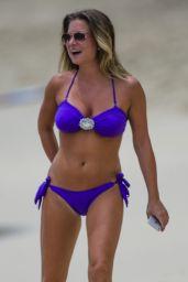Zara Holland - On the Beach in Barbados 07/28/2017