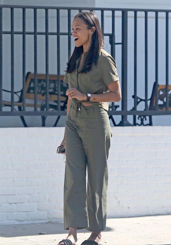 Zoe Saldana - Out in Los Angeles 07/02/2017