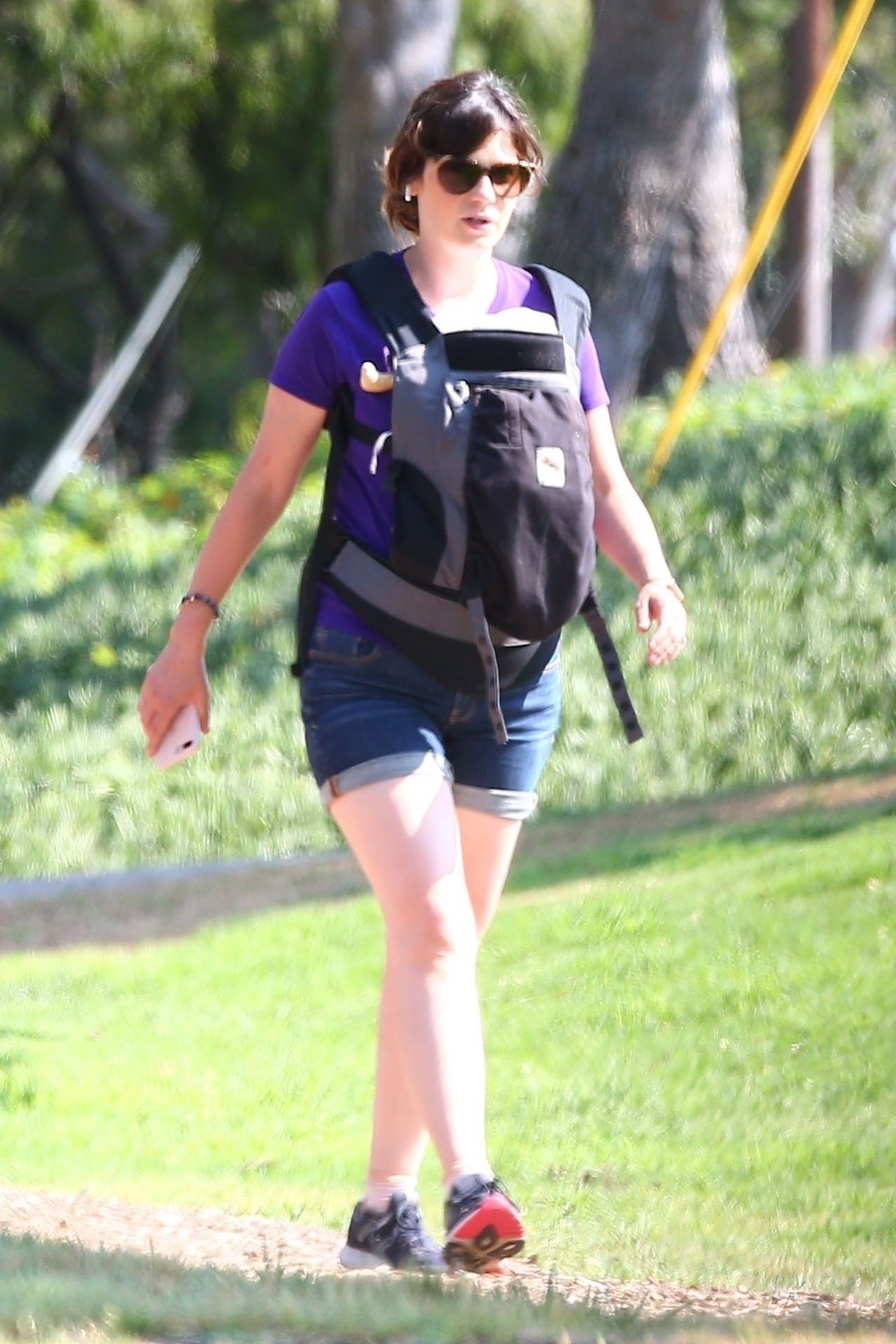Zooey Deschanel - Takes Her Baby Boy on a Walk in Los ...