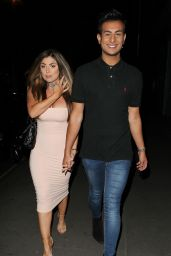 Abigail Clarke and Junaid Ahmed - Night Out in London 08/12/2017
