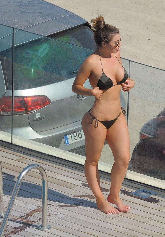 Abigail Clarke Bikini Pics - Poolside in Marbella 08/19/2017