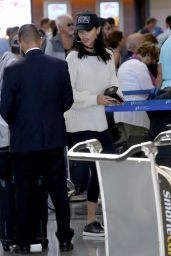 Adriana Lima - Arriving at LAX in Los Angeles 08/15/2017