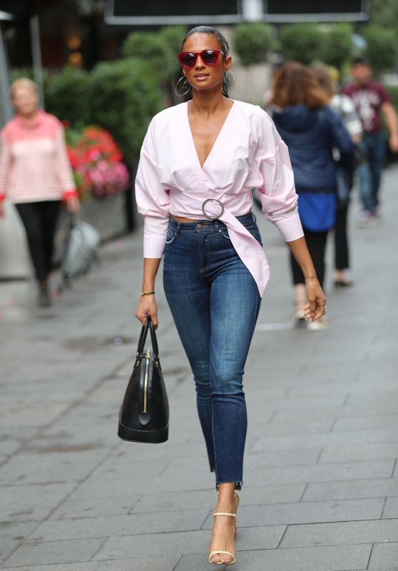 Alesha Dixon in Tight Jeans - Global Radio, London 08/17/2017