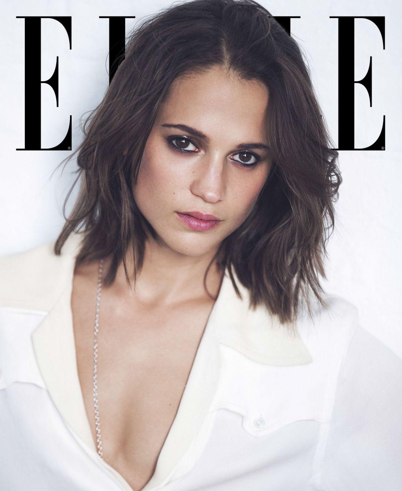 Alicia Vikander Elle Magazine Us September 2017