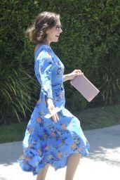 Alison Brie - Arrives at Jen Klein