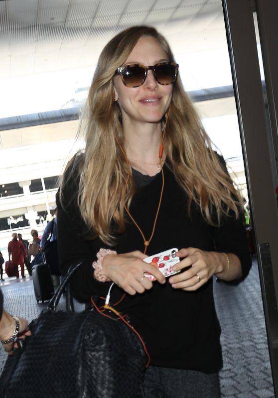 Amanda Seyfried at LAX Airport in LA 08/29/2017