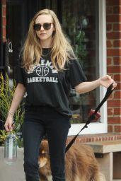 Amanda Seyfried Walks Her Dog in Woodland Hills, CA 08/24/2017