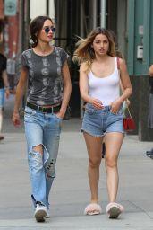 Ana De Armas in Denim Shorts - Shops in NYC 08/26/2017
