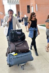 Anna Mouglalisand and Vincent Raes - Arrives at the Venice Airport, Italy 08/29/2017