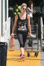 Ashley Greene - Pumping Gas and Goes for Some Grocery Shopping in Beverly Hills 08/05/2017