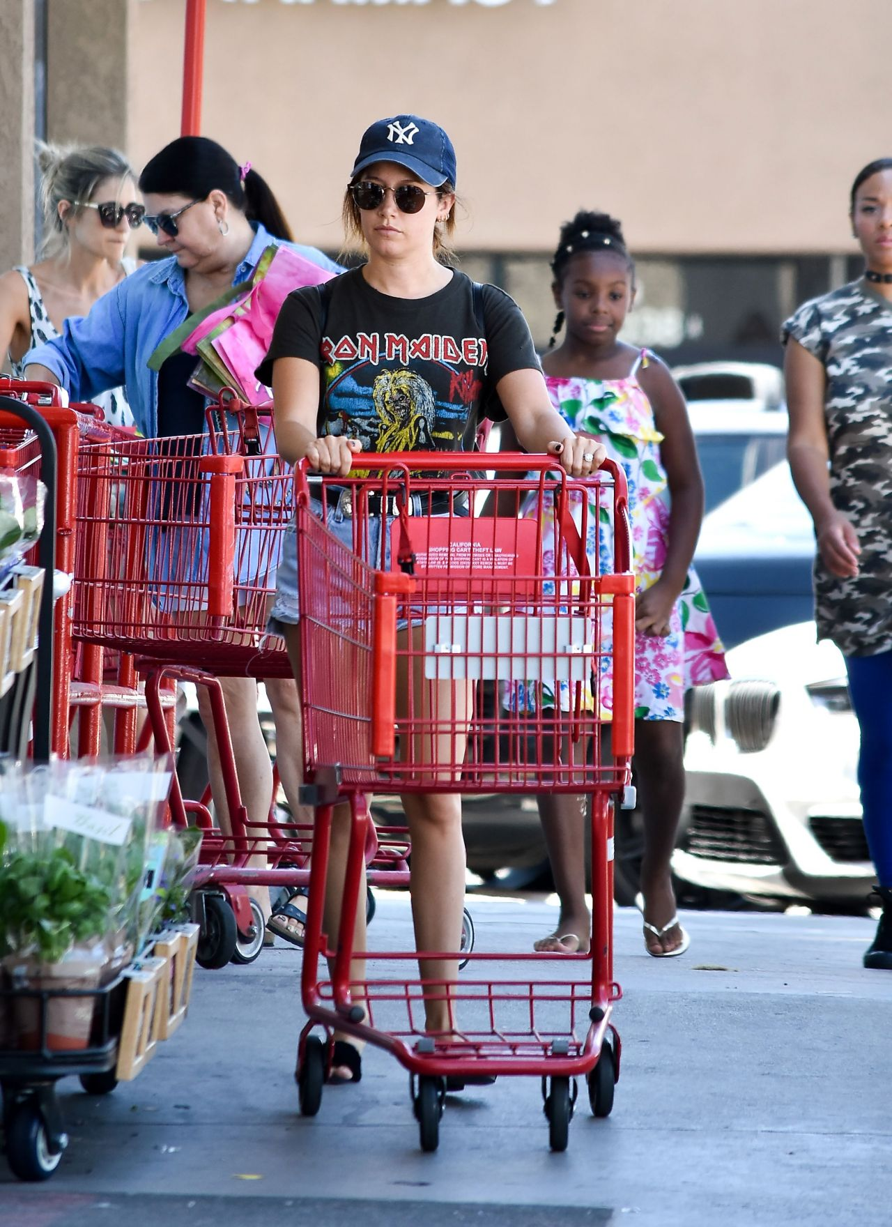 Ashley Tisdale - Grocery Shopping in Los Angeles 08/19 ...
