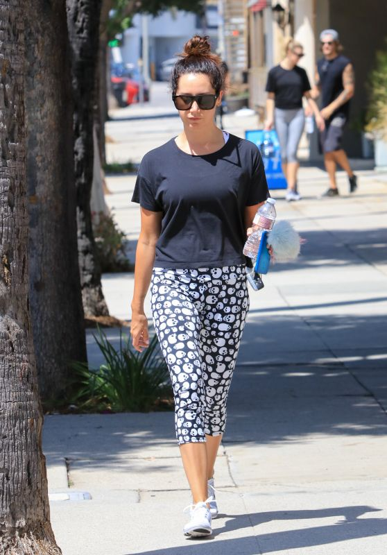 Ashley Tisdale in Skull Leggings - Studio City 08/07/2017