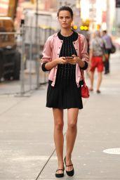 Barbara Fialho Cute Style - Soho in NYC 08/25/2017