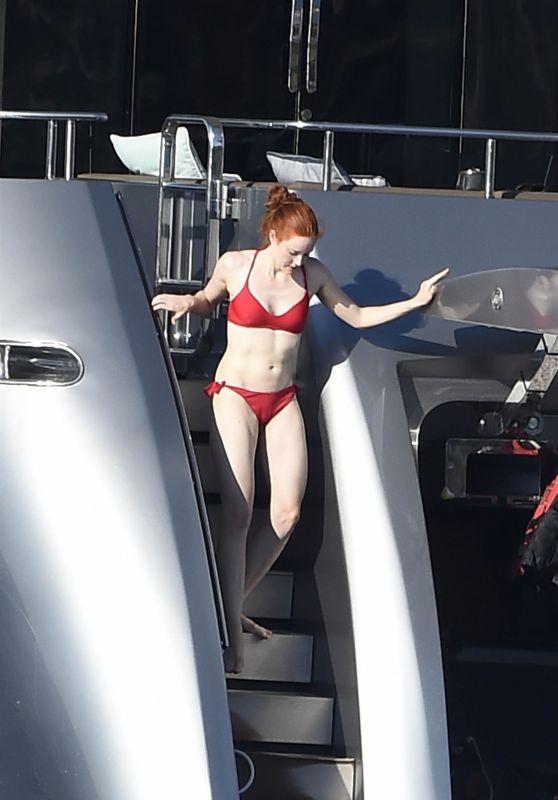 Barbara Meier and Victoria Swarovski on a Luxury Yacht in Porto Rotondo, Sardinia 08/21/2017