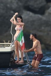 Bee Shaffer in Bikini on a Boat in Portofino 08/26/2017