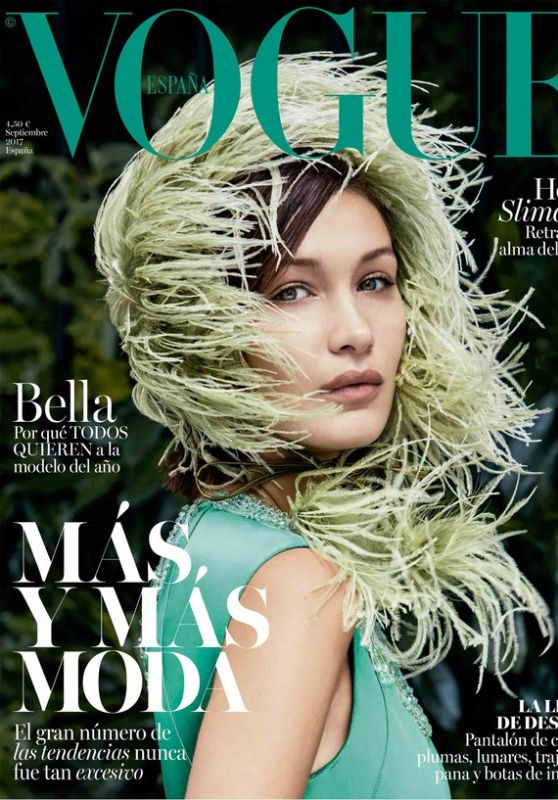bella hadid elle magazine spain september 2017