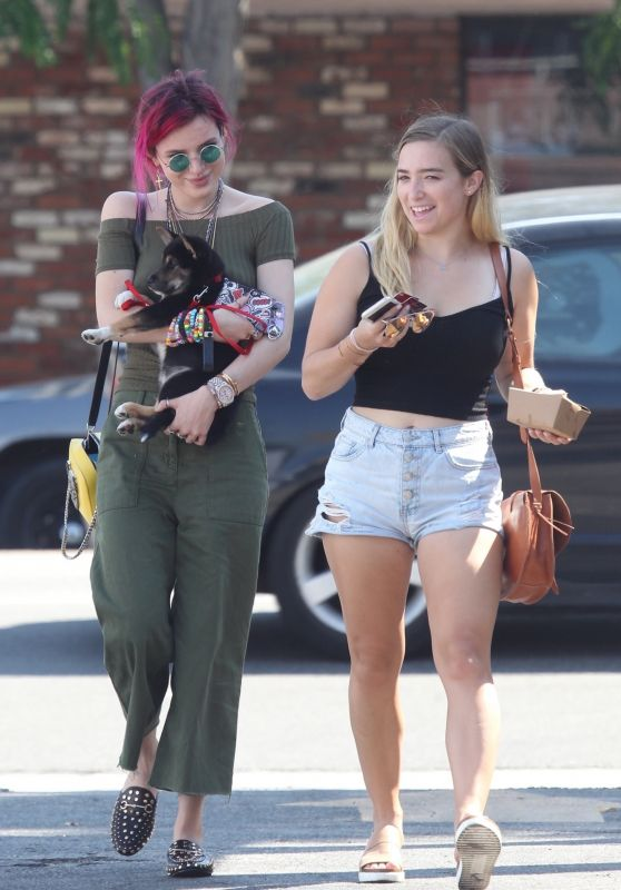 Bella Thorne and Dani Thorne - Goes to Lunch in LA 08/06/2017