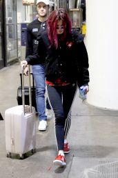 Bella Thorne at LAX Airport in Los Angeles 08/22/2017