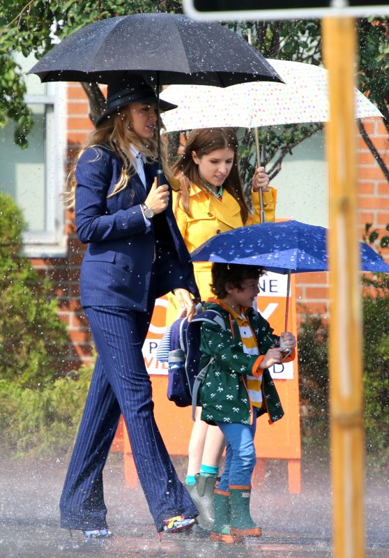 "Blake Lively & Anna Kendrick - ""A Simple Favor"" Movie Filming in Toronto 08/25/2017"