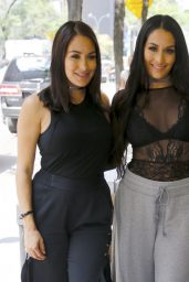 Brie Bella & Nikki Bella - Arriving at the NBC Studios in New York City