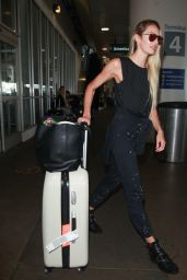 Candice Swanepoel in Travel Outfit - Arriving at LAX 08/30/2017