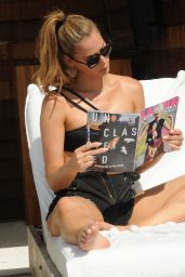 Carmen Carrera in Bikini - Poolside in Miami, July 2017