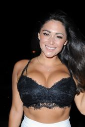 Casey Batchelor in a Bra Top - Night Out in Portugal 08/19/2017