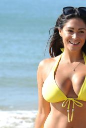 Casey Batchelor in Yellow Bikini on Beach in Portugal 08/26/2017