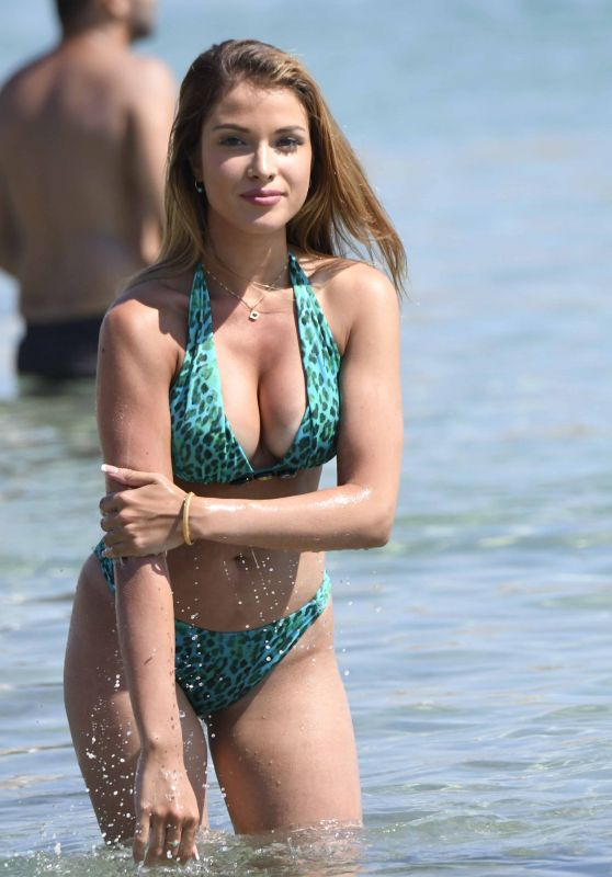 Catarina Sikiniotis in Bikini at Platis Gialos Beach in Mykonos 08/23/2017
