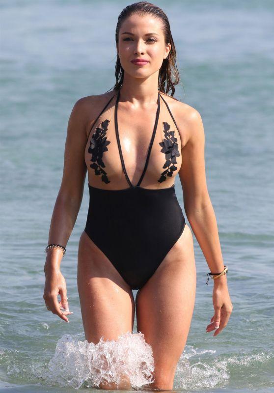 Catarina Sikiniotis in Swimsuit at the Beach in Mykonos 08/16/2017