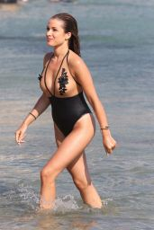 Catarina Sikiniotis in Swimsuit at the Beach in Mykonos 08/16/2017
