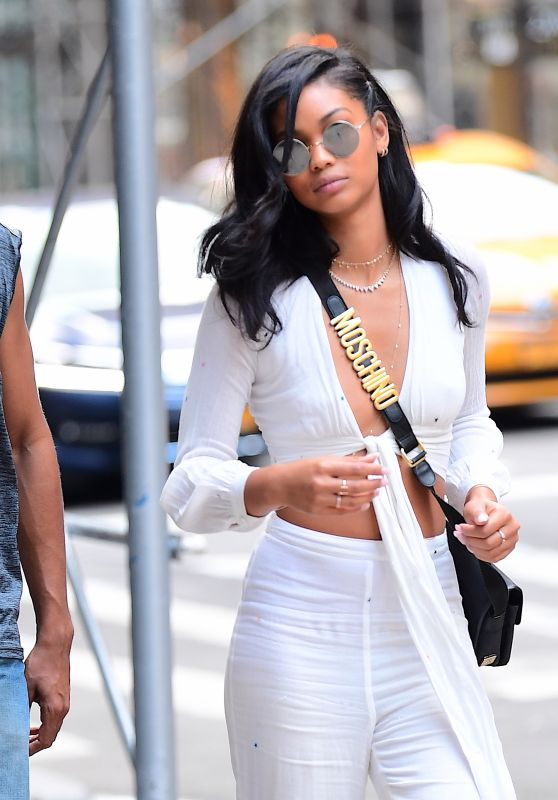 Chanel Iman Street Fashion - Out in NY 08/19/2017