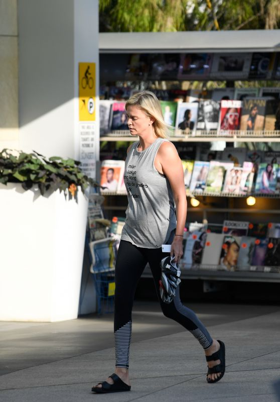 Charlize Theron - An Evening Session at Soul Cycle in LA 08/30/2017