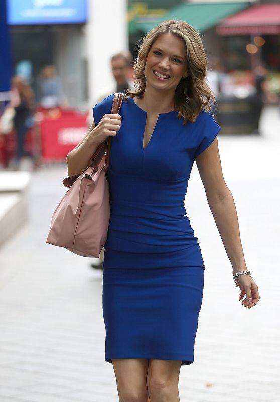 Charlotte Hawkins Looks Stylish -  Leicester Square in London 08/08/2017