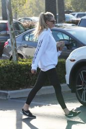 Charlotte McKinney in Tights - Buying Water at Supermarket in Malibu 08/19/2017