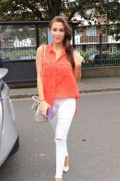 Chloe Goodman - Arrives at the Channel 5 TV Studios in London 08/21/2017