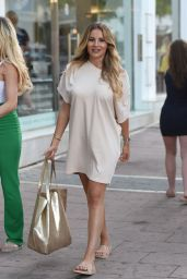 """Chloe Sims, Amber Dowding and Georgia Kousoulou - """"The Only Way Is Essex"""" Filming in Marbella 08/10/2017"""